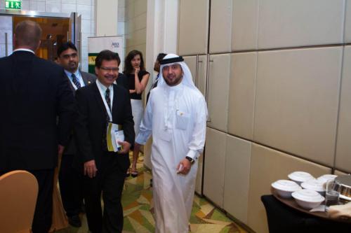 President of Arab Business Club, Hamdan Mohamed Almurshidi during the event